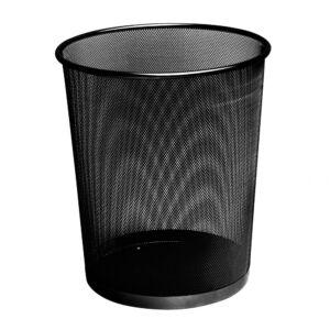 Fémhálós papírkosár fekete nagy 29,5x33 cm