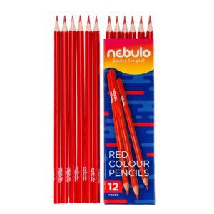 Színes ceruza, háromszög, NEBULO piros