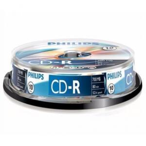 CD-R 700MB 52X CAKEBOX10 PHILIPS 10DB