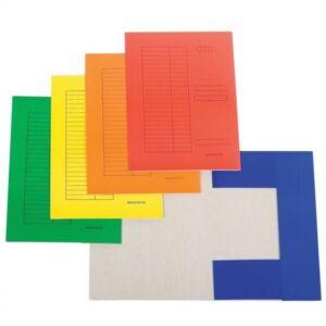 Iratgyűjtő pólyás dosszié okmánytartó karton A4 230gr sárga