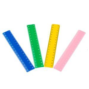 Vonalzó, 16 cm-es, vegyes színek NEBULO