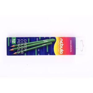 Színes ceruza, háromszög, NEBULO zöld