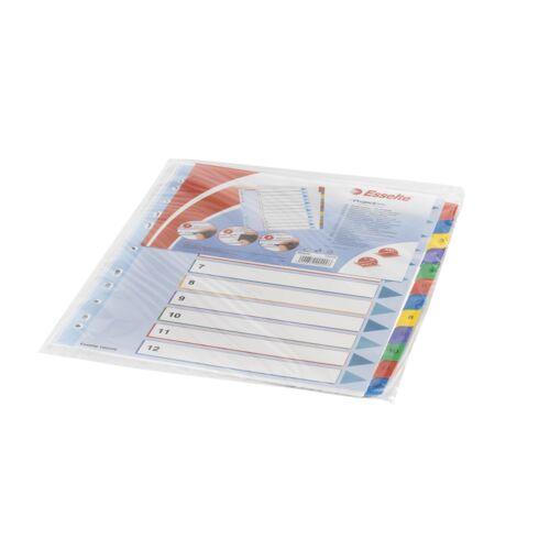 Elválasztólap A4 maxi regiszteres 1-12 laminált karton előlap ESSELTE 100209