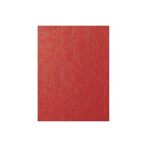 Hátlap, A4, 250 g. matt bőrhatású 100 db/csomag, FORNAX, piros