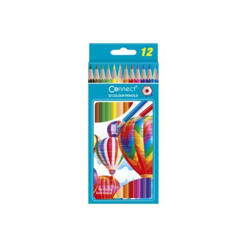 Színes ceruza hatszögletű CONNECT 12db-os készlet,