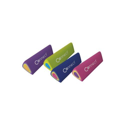 Radír CONNECT színes háromszögletű hasáb (45x15x15mm) 48db/ kínáló doboz