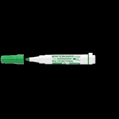 Táblamarker 3mm mágneses, táblatörlővel multifunkciós ICO MARKERASER zöld