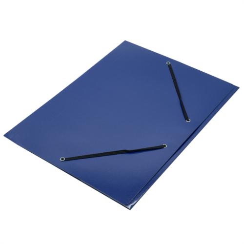 Gumis mappa FORNAX Glossy karton A/4 400 gr kék
