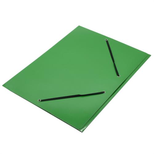 Gumis mappa FORNAX Glossy karton A/4 400 gr,zöld