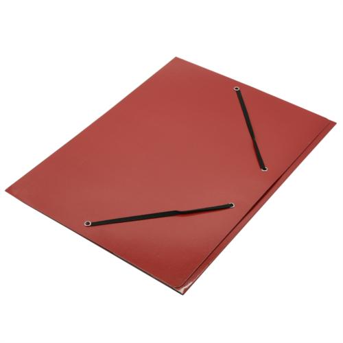 Gumis mappa FORNAX Glossy karton A/4 400 gr piros