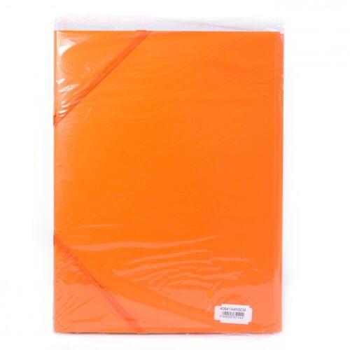 Gumis mappa műanyag 3 cm gerincvastagított perforált narancs 6 db