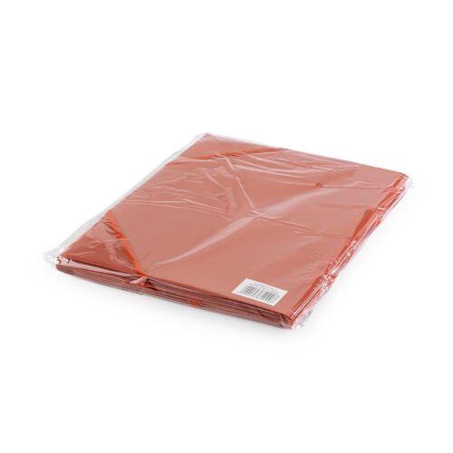 Gumis mappa műanyag 3 cm gerincvastagított perforált piros 6 db