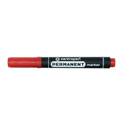 Permanent marker CENTROPEN 8566 kerek végű, 2,5mm, piros