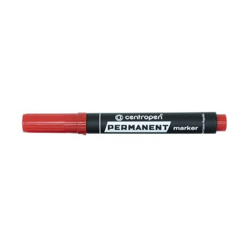 Permanent marker CENTROPEN 8576 vágott végű, 1-4,6 mm, piros