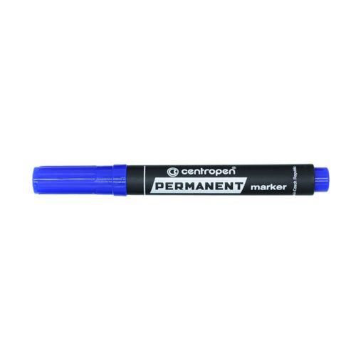 Permanent marker CENTROPEN 8576 vágott végű, 1-4,6 mm, kék
