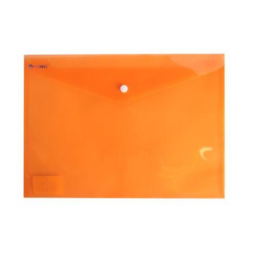 Irattartó tasak A4 PP patentos transzparens narancs 12 db /csomag BLUERING