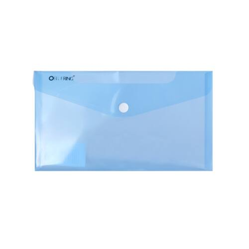 Irattartó tasak DL `CSEKK` patentos PP transzparens kék 12 db /csomag BLUERING