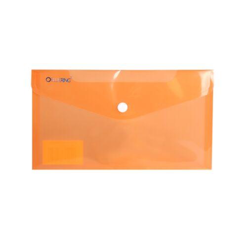 Irattartó tasak DL `CSEKK` patentos PP transzparens narancs 12 db /csomag BLUERING