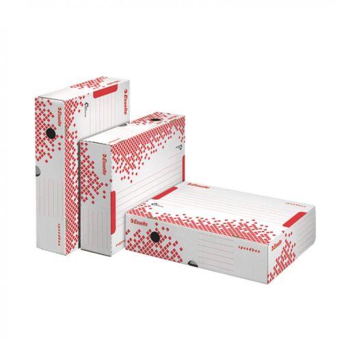 Archiváló doboz 80mm fehér felfelé nyíló tetővel 623910 ESSELTE speed box