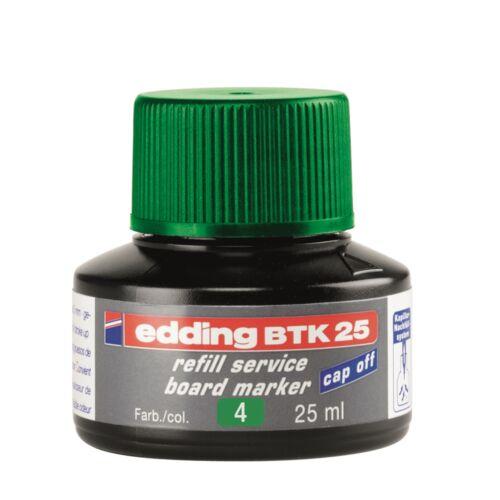 Tinta utántöltő táblamarkerhez 25ml EDDING BTK25 zöld