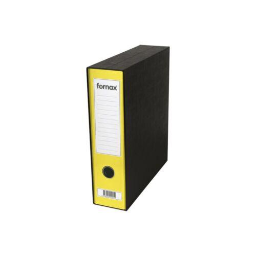 Tokos iratrendező A4, 8 cm, FORNAX Prestige sárga
