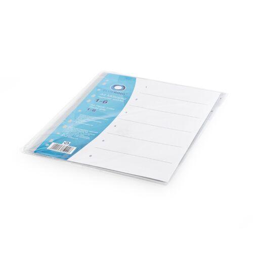 Regiszter műanyag 1-6 szürke BLUERING