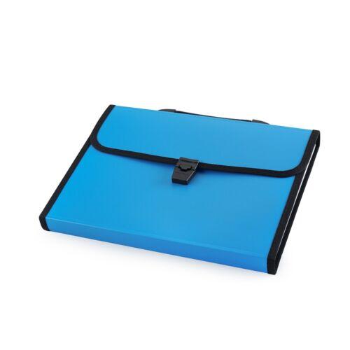 Irattartó táska, harmonikatáska,  13 rekeszes füles csatos kék