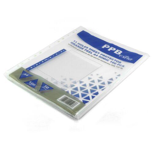Genotherm lefűzhető, A4 50 micron narancsos PPB EXTRA 100 db/csomag