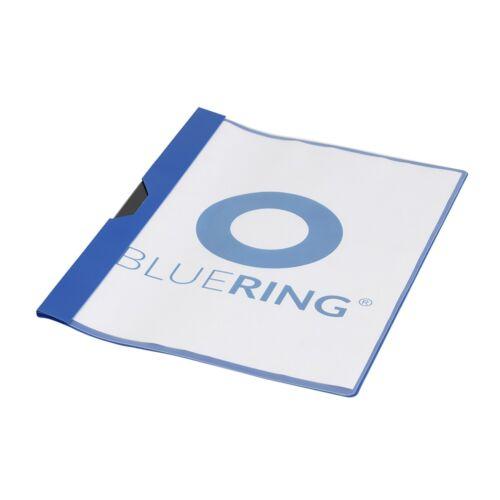 Gyorsfűző klip mappa A4 műanyag 30 laphoz fém klippes kék BLUERING
