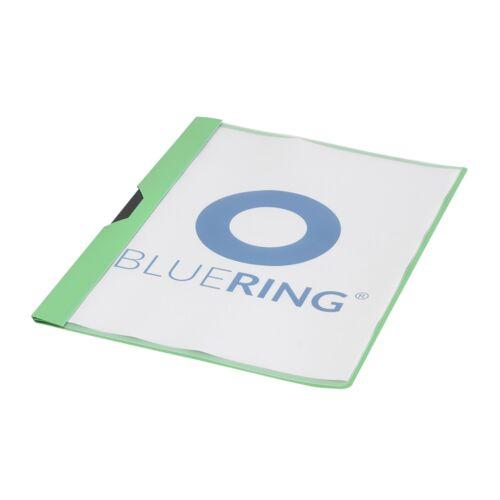 Gyorsfűző klip mappa A4 műanyag 30 laphoz fém klippes zöld BLUERING