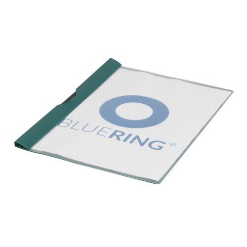 Gyorsfűző klip mappa A4 műanyag 60 laphoz fém klippes zöld BLUERING