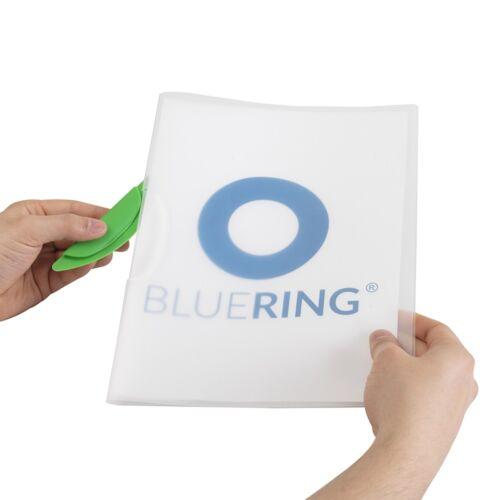 Gyorsfűző klip mappa A4 műanyag 30 laphoz műanyag klippes zöld BLUERING