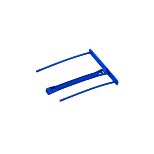 Lefűzőklip, műanyag, 100 mm, FELLOWES, Bankers Box Pro, 50 db/csomag, kék