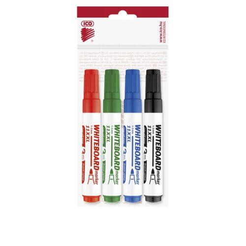 Táblamarker 3mm kerek ICO 11XXL 4 klf.szín