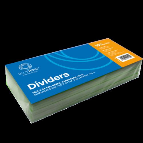 Elválasztócsík karton 190gr. 10,5x24 cm zöld 100 db