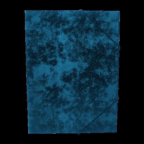 Gumis mappa A4 festett prespán karton BLUERING kék