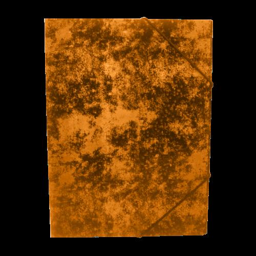 Gumis mappa A4 festett prespán karton BLUERING narancs