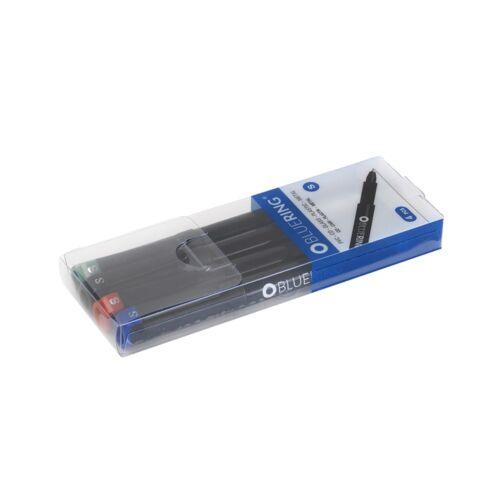 Rostirón tűfilc alkoholos marker 0,4mm 4 színű készlet BLUERING S