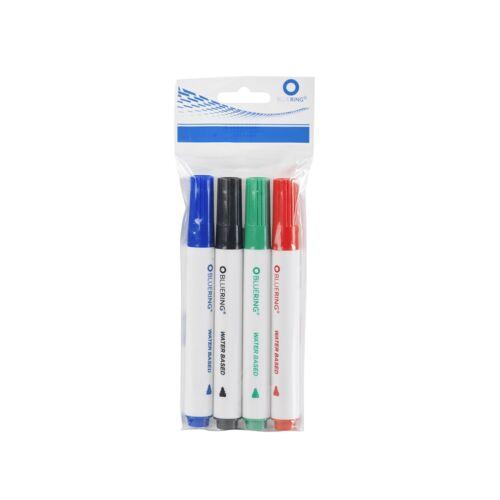 Flipchart marker rostirón vizes kerek végű 3mm 4-es készlet BLUERING