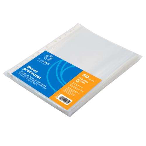 Genotherm lefűzhető, A4 90 micron víztiszta BLUERING 100 db/csomag