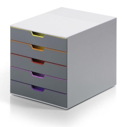 Irattároló műanyag VARICOLOR 5 színes fiókkal DURABLE