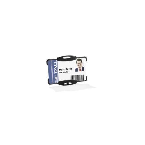 Biztonsági kártyatarató DURABLE 1 kártya számára, 10db/csomag, fekete
