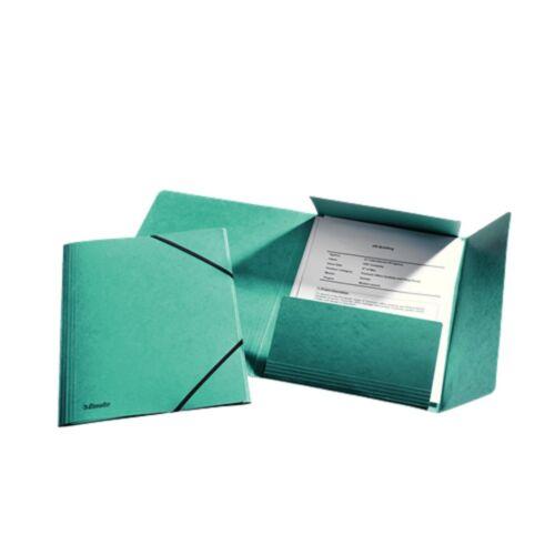 Gumis mappa karton prespán A4, 15 mm ESSELTE Rainbow zöld