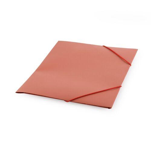 Gumis mappa műanyag piros darabos