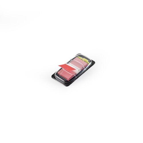 Jelölőcímke műanyag 50 lap 25x45 mm piros