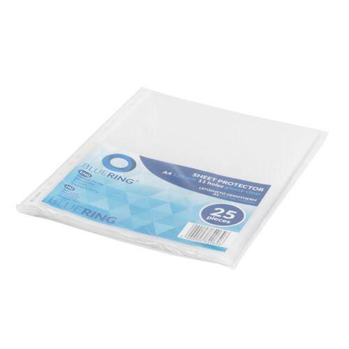 Genotherm lefűzhető, A4 120 micron víztiszta BLUERING 25 db/csomag