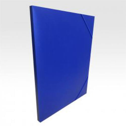 Gumis mappa műanyag gerincvastagított 15 mm kék