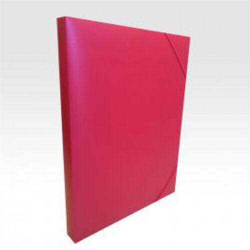 Gumis mappa műanyag gerincvastagított 30 mm piros