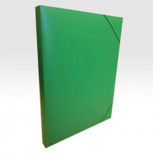 Gumis mappa műanyag gerincvastagított 30 mm zöld