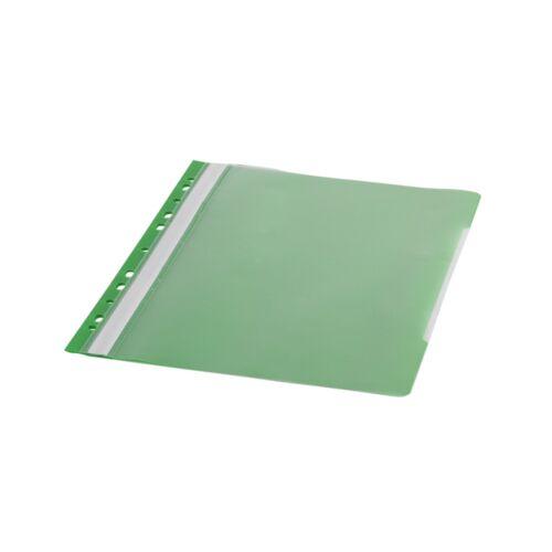 Gyorsfűző lefűzhető A4 PP 11 lyukkal zöld 1 db